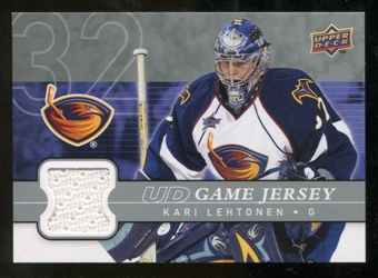 2008/09 Upper Deck Game Jerseys #GJKL Kari Lehtonen