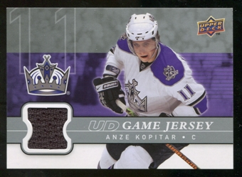 2008/09 Upper Deck Game Jerseys #GJKO Anze Kopitar