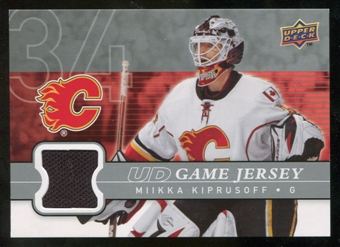 2008/09 Upper Deck Game Jerseys #GJMK Miikka Kiprusoff