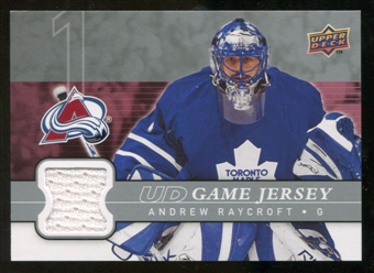 2008/09 Upper Deck Game Jerseys #GJRA Andrew Raycroft