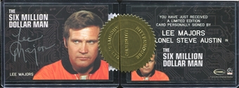 The Complete Bionic Collection Lee Majors as Colonel Steve Austin Autograph