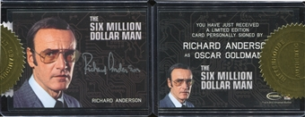 The Complete Bionic Collection Richard Anderson as Oscar Goldman Autograph