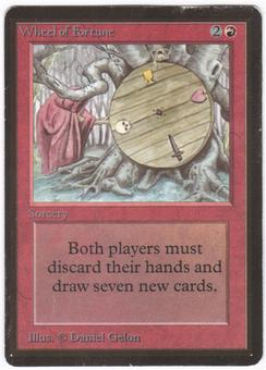 Magic the Gathering Beta Single Wheel of Fortune - MODERATE PLAY (MP)
