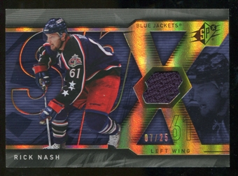 2007/08 Upper Deck SPx Spectrum #39 Rick Nash Jersey /25