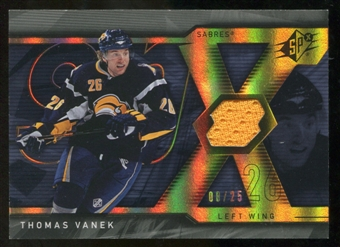 2007/08 Upper Deck SPx Spectrum #72 Thomas Vanek Jersey /25