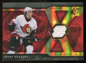 2007/08 Upper Deck SPx Spectrum #80 Dany Heatley Jersey /25