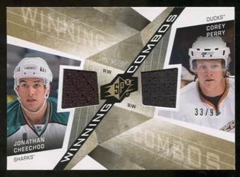 2008/09 Upper Deck SPx Winning Combos Spectrum #WCCP Corey Perry/Jonathan Cheechoo /99