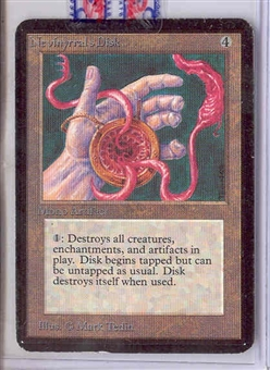 Magic the Gathering Alpha Single Nevinyrral's Disk - MODERATE PLAY (MP)