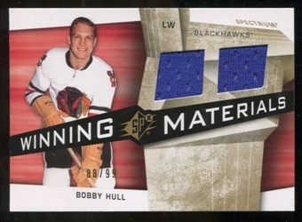 2008/09 Upper Deck SPx Winning Materials Spectrum #WMBH Bobby Hull /99
