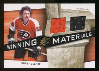 2008/09 Upper Deck SPx Winning Materials Spectrum #WMCC Bobby Clarke /99
