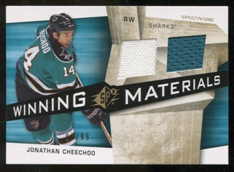2008/09 Upper Deck SPx Winning Materials Spectrum #WMCH Jonathan Cheechoo /99
