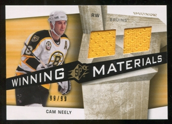 2008/09 Upper Deck SPx Winning Materials Spectrum #WMCN Cam Neely /99