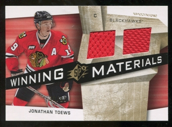2008/09 Upper Deck SPx Winning Materials Spectrum #WMJT Jonathan Toews /99