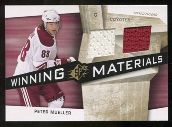 2008/09 Upper Deck SPx Winning Materials Spectrum #WMPM Peter Mueller /99