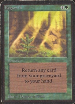 Magic the Gathering Alpha Single Regrowth MODERATE PLAY (VG/EX)