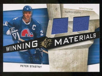 2008/09 Upper Deck SPx Winning Materials Spectrum #WMPS Peter Stastny /99