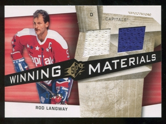 2008/09 Upper Deck SPx Winning Materials Spectrum #WMRL Rod Langway /99