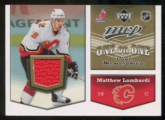 2007/08 Upper Deck One on One Jerseys #OOCV Matthew Lombardi/Ryan Kesler