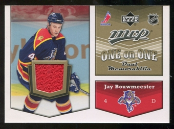 2007/08 Upper Deck One on One Jerseys #OOJD Jay Bouwmeester/Dan Hamhuis