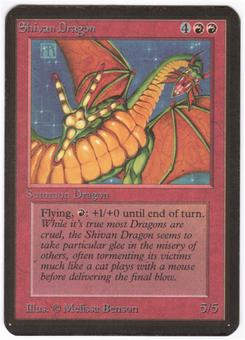 Magic the Gathering Alpha Single Shivan Dragon - MODERATE PLAY (MP)