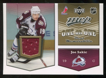 2007/08 Upper Deck One on One Jerseys #OOSF Joe Sakic/Peter Forsberg