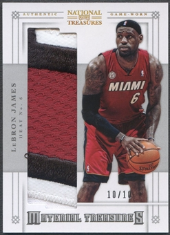 2012/13 Panini National Treasures #66 LeBron James Material Treasures Patch #10/10