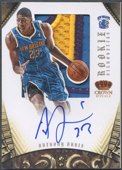 2012/13 Panini Preferred #325 Anthony Davis Rookie Silhouettes Patch Auto #24/25