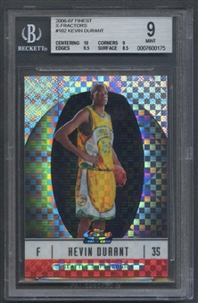 2006/07 Finest #102 Kevin Durant Rookie X-Fractors #25/25 BGS 9