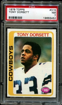 1978 Topps Football #315 Tony Dorsett Rookie PSA 7 (NM) *5452