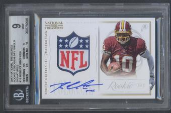 2012 Panini National Treasures #18 Robert Griffin III Rookie Colossal NFL Shield Auto #1/1 BGS 9