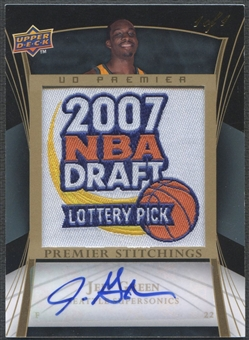 2007/08 Upper Deck Premier #PSJG Jeff Green Stitchings Rookie Patch Auto #1/1