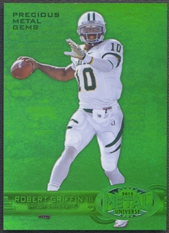 2012 Fleer Retro Metal #M41 Robert Griffin III Rookie Precious Metal Gems Green #02/10
