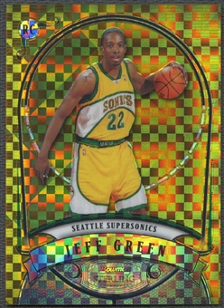 2007/08 Bowman Sterling #JG1 Jeff Green Rookie X-Fractors Gold #08/10