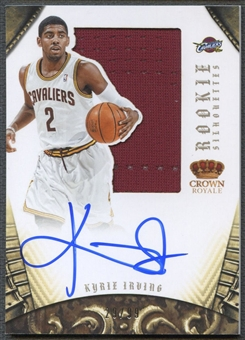 2012/13 Panini Preferred #327 Kyrie Irving Rookie Silhouettes Jersey Auto #29/99