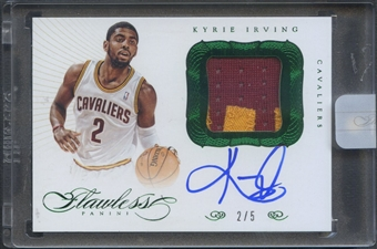 2012/13 Panini Flawless #9 Kyrie Irving Spokesmen Emerald Rookie Patch Auto #2/5
