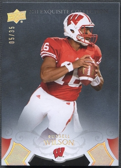 2011 Exquisite Collection #ERRW Russell Wilson Rookie Draft Picks Silver #05/35