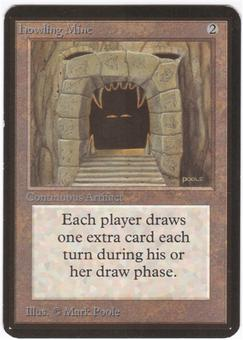 Magic the Gathering Alpha Single Howling Mine LIGHT PLAY (NM)