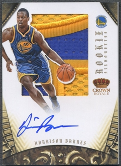 2012/13 Panini Preferred #348 Harrison Barnes Rookie Silhouettes Prime Patch Auto #18/25