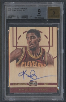 2012/13 Panini Threads #151 Kyrie Irving Rookie Auto BGS 9