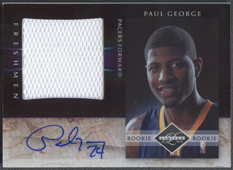 2010/11 Limited #10 Paul George Rookie Jumbo Jersey Auto #34/99