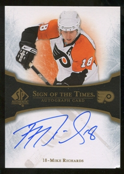 2007/08 Upper Deck SP Authentic Sign of the Times #STRI Mike Richards Autograph
