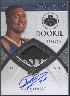 2008/09 Exquisite Collection #70 Roy Hibbert Rookie Patch Auto #078/225