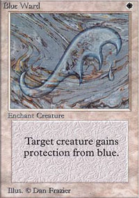 Magic the Gathering Alpha Single Blue Ward - NEAR MINT (NM)