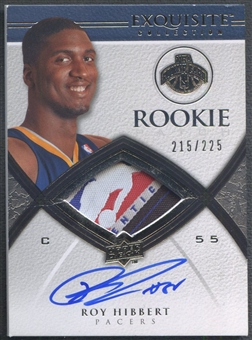 2008/09 Exquisite Collection #70 Roy Hibbert Rookie Patch Auto #215/225