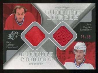 2007/08 Upper Deck SPx Winning Combos Spectrum #WCLH Guy Lafleur/Chris Higgins /99