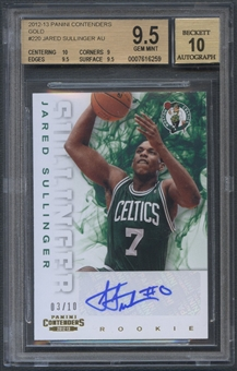 2012/13 Panini Contenders #220 Jared Sullinger Gold Rookie Auto #03/10 BGS 9.5