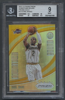 2012/13 Panini Prizm #13 Kyrie Irving Downtown Bound Prizms Gold Rookie #05/10 BGS 9