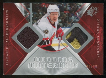 2007/08 Upper Deck SPx Winning Materials Spectrum #WMDA Daniel Alfredsson /99