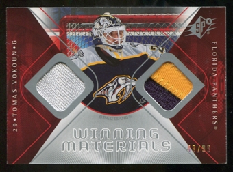 2007/08 Upper Deck SPx Winning Materials Spectrum #WMTV Tomas Vokoun 49/99
