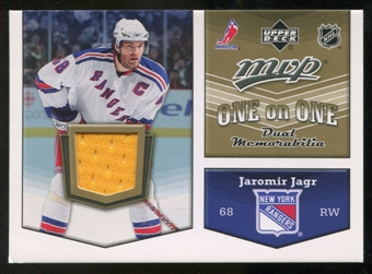 2007/08 Upper Deck One on One Jerseys #OOJE Jaromir Jagr/Patrik Elias